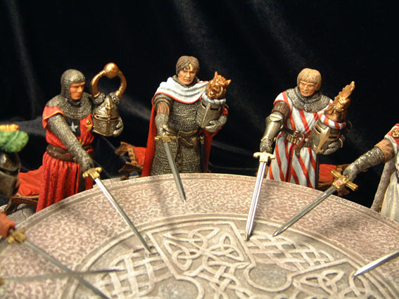 an analysis of the legend of king arthur and the knights of the round table in literature Character analysis although king arthur is one of the most well-known figures in the world, his true identity remains a mysteryattempts to identify the historical arthur have been unsuccessful, since he is largely a product of fiction.